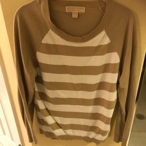 Michael Kors tan/white sweater